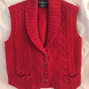 Ralph Lauren blue label wool vest. EUC.